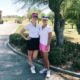 Armana Chanel Christianson Pro Golfer with her mom and caddy!